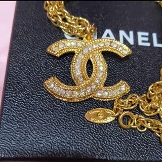 シャネル(CHANEL)のCHANEL 80'sヴィンテージ ラインストーン ネックレス ゴージャス超美品(ネックレス)