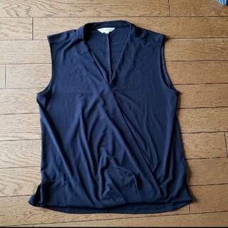 プラステ(PLST)のPLST ノースリーブ カシュクールトップス(Tシャツ(半袖/袖なし))