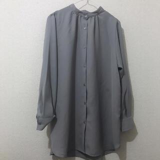 GU - バンドカラーロングシャツ GU