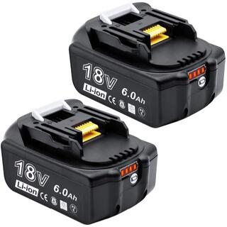 マキタ(Makita)のマキタ18v互換バッテリー 6000mAh 2個 PSEとCEマーク取得済(工具)