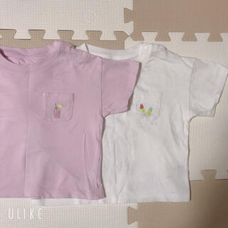 UNIQLO - ユニクロ Tシャツ 80cm 2枚セット 美品