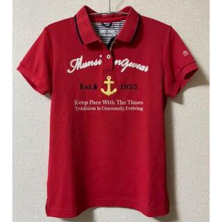 マンシングウェア(Munsingwear)のマンシングウェアmunsingwear赤ピンクレディースMおすすめゴルフスポーツ(ウエア)