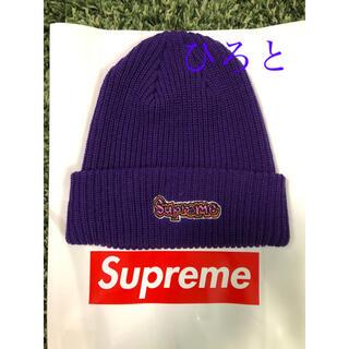 シュプリーム(Supreme)のSupreme Gonz Logo Beanie purple(ニット帽/ビーニー)