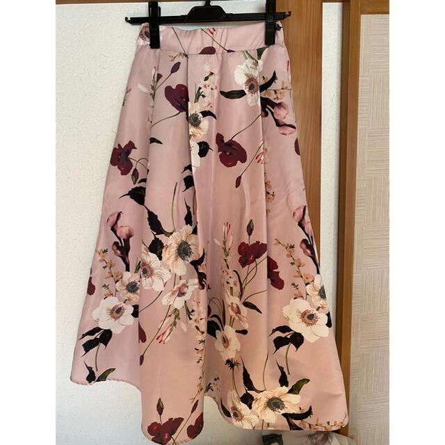 eimy istoire(エイミーイストワール)のeimy エレガントフラワーボリュームスカート レディースのスカート(ロングスカート)の商品写真