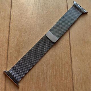 アップルウォッチ(Apple Watch)のApple Watch 純正 ミラネーゼループ シルバー 42/44mm(その他)