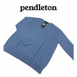 ペンドルトン(PENDLETON)の新品未使用 pendleton コットン100% セーター Mサイズ ブルー(ニット/セーター)