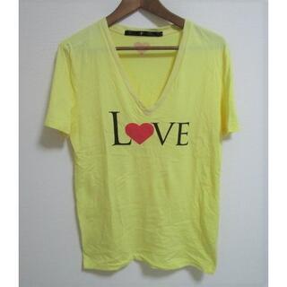 ノーアイディー(NO ID.)のNOID Vネック LOVE Tシャツ(Tシャツ/カットソー(半袖/袖なし))