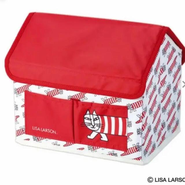 Lisa Larson(リサラーソン)の☆トト様☆リンネル 5月号特別付録 マイキーのハウス形収納BOX インテリア/住まい/日用品の収納家具(ケース/ボックス)の商品写真