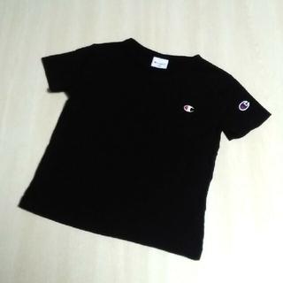 Champion - 110cm★Champion チャンピオン Tシャツ 黒 男の子 ワンポイント