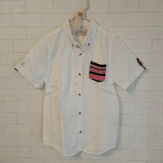 ザラキッズ(ZARA KIDS)のZARA BOYS 半袖 ポケット付き シャツ 128cm ホワイト 白 130(Tシャツ/カットソー)