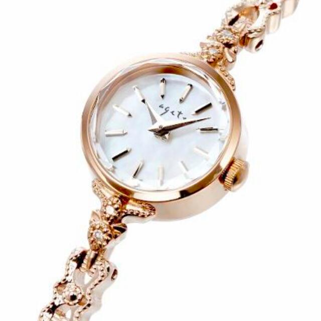 agete(アガット)の*ご専用。agete CLASSIC ダイヤ ラウンドフェイスウォッチ* レディースのファッション小物(腕時計)の商品写真