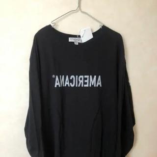 アメリカーナ(AMERICANA)の新品Americana反転ロゴ長袖Tシャツ(Tシャツ(長袖/七分))