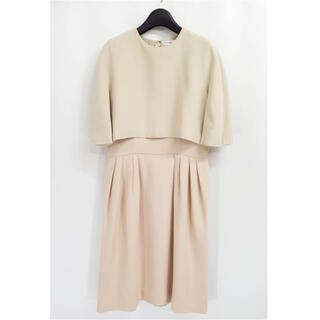 Christian Dior - Dior クリスチャンディオール ケープ ドッキング ドレス ワンピース 38