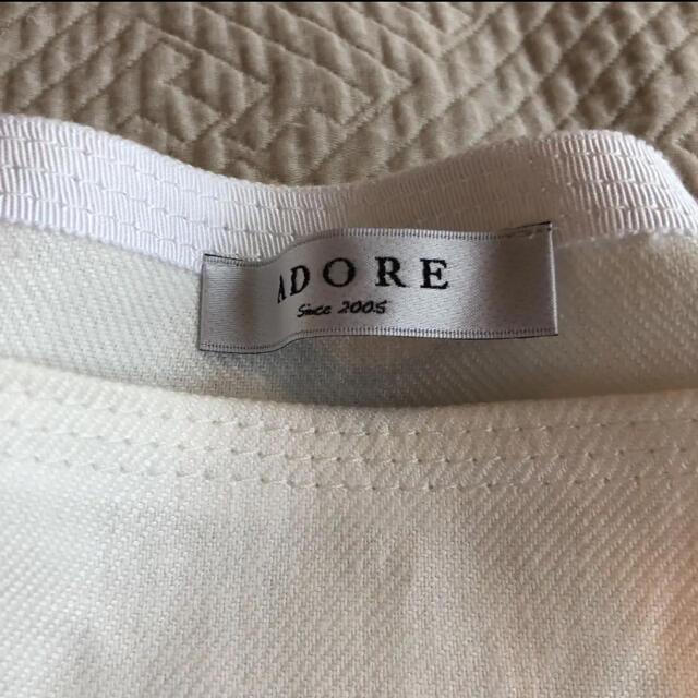 ADORE(アドーア)のアドーア   ADORE  ピュア麻ショルダーリボンブラウス  レディースのトップス(シャツ/ブラウス(半袖/袖なし))の商品写真