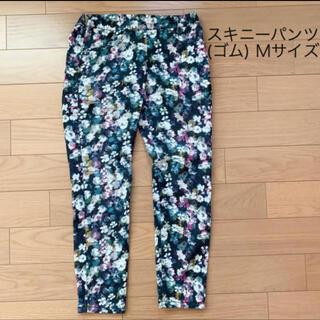 ジーユー(GU)の花柄スキニーパンツ(スキニーパンツ)