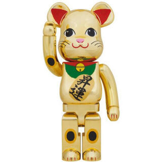 MEDICOM TOY - BE@RBRICK ベアブリック 招き猫 金メッキ 昇運 1000% 未開封