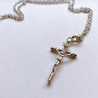 【ネックレス クロス 十字架】メンズ シルバー