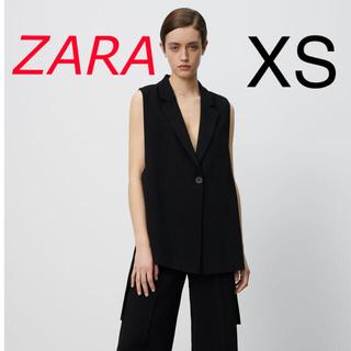 ZARA - 新品 ZARA  スリットベスト XSサイズ ブラック