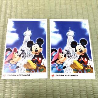 ディズニー(Disney)のディズニー スカイツリー JAL ポストカード(写真/ポストカード)