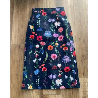 アナイ(ANAYI)のANAYI ボタニカルプリントスカート 36サイズ アナイ(ロングスカート)