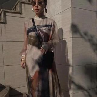 Ameri VINTAGE - ameri Vintage LOUISE ART DRESS 新宿店限定  M