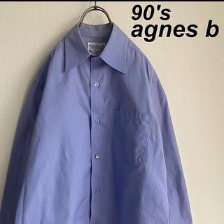agnes b. - 古着 90's アニエスベー オム ドレスシャツ サックスブルー