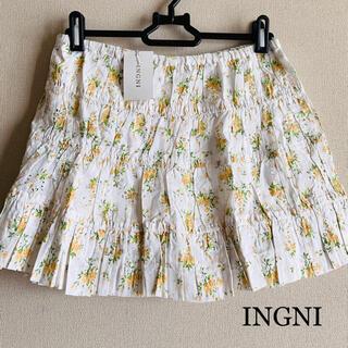 イング(INGNI)の新品★イング INGNI★花柄★スカート★インナーパンツ(ミニスカート)