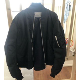 sacai - 貴重 sacai MA-1 basic 美品 ブラック 1