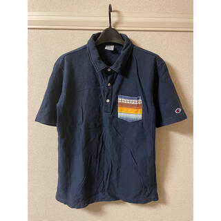 チャンピオン(Champion)のチャンピオン Champion ポロシャツ 半袖 柄ポケット 紺 ネイビー XL(ポロシャツ)