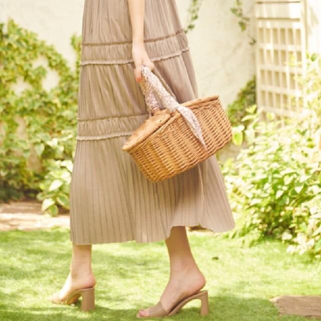 snidel(スナイデル)のHer lip to secret garden ピクニックバスケット レディースのバッグ(かごバッグ/ストローバッグ)の商品写真