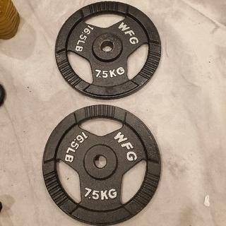 プレート直径28mm用 7.5kg✕2個 計15kg