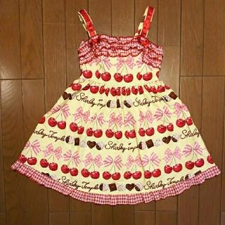 Shirley Temple - シャーリーテンプル チェリーチョコ ジャンパースカート 120