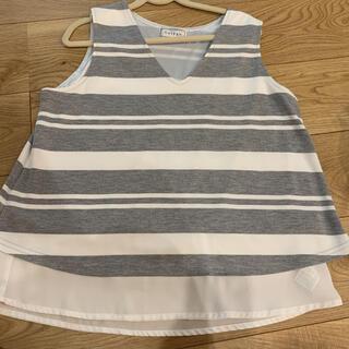 シマムラ(しまむら)のノースリーブ L (Tシャツ/カットソー(半袖/袖なし))