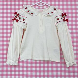 シャーリーテンプル(Shirley Temple)のシャーリーテンプル いちご ブラウス 100(Tシャツ/カットソー)