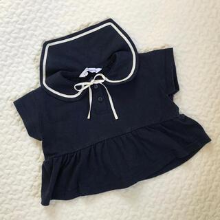 バースデイ UTAKATADECO セーラー 襟 トップス 半袖 女の子ベビー(シャツ/カットソー)