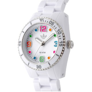 アディダス(adidas)のadidas ホワイト腕時計    電池あり(腕時計)