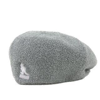 カンゴール(KANGOL)のKANGOL × BEAMS ハンチング キャップ 帽子 パイル L グレー(ハンチング/ベレー帽)