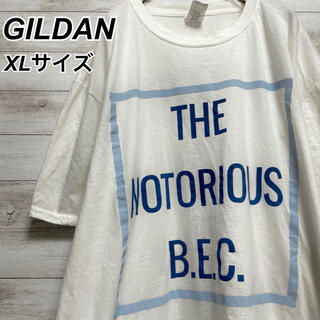 ギルタン(GILDAN)のXLサイズ 古着 ギルダン 半袖 Tシャツ 企業ロゴ プリント ビッグシルエット(Tシャツ/カットソー(半袖/袖なし))