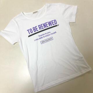 ⑨ キッズ 160 白地半袖Tシャツ
