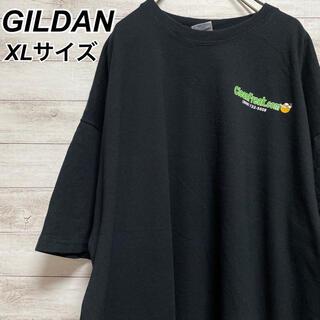ギルタン(GILDAN)のXLサイズ 古着 ギルダン 半袖 Tシャツ 企業ロゴ バックプリント ブラック(Tシャツ/カットソー(半袖/袖なし))