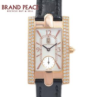 ハリーウィンストン(HARRY WINSTON)のハリーウィンストン アヴェニュー レディース ベゼルダイヤ K18RG/革ベルト(腕時計)