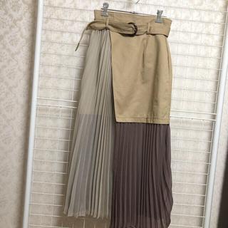 MURUA - MURUA ヘムシアープリーツラップスカート