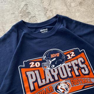 ギルタン(GILDAN)の【好配色】NFL アメリカ輸入 ビッグロゴ Tシャツ 半袖 XL 大きめ 古着(Tシャツ/カットソー(半袖/袖なし))