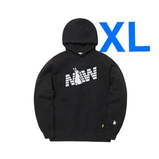 メイドインワールド(MADE IN WORLD)のコラボ MIW × #FR2 Box Logo Hoodie(パーカー)