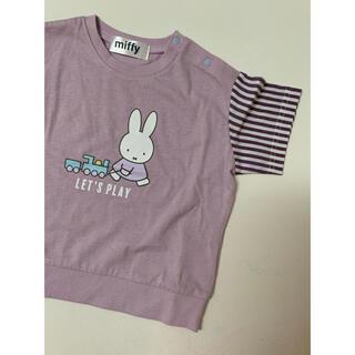 futafuta - miffy バースデイ Tシャツ 95cm 紫