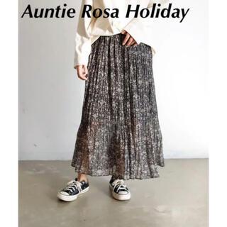 アンティローザ(Auntie Rosa)のAuntie Rosa Holiday ペイズリー プリーツ シアー スカート(ロングスカート)