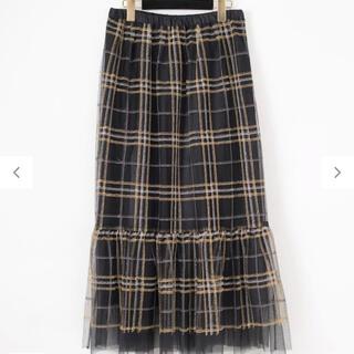 GRACE CONTINENTAL - チェック刺繍チュールスカート