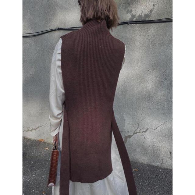Ameri VINTAGE(アメリヴィンテージ)のAmeri VINTAGE VEST LAYERED SHIRT DRESS レディースのワンピース(ロングワンピース/マキシワンピース)の商品写真