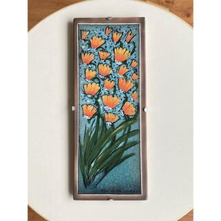 アラビア(ARABIA)のWhispering Flowers 1997年 陶板画 ヘルヤ アラビア(置物)