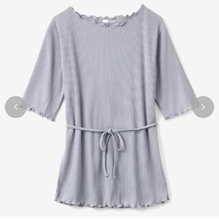しまむら - てらさん メロウTシャツ パープル